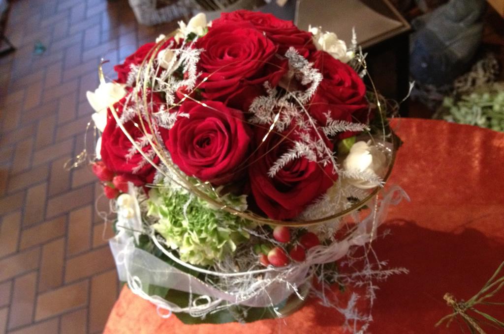 Hochzeitsstrauß in Rot